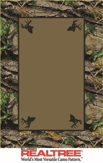 Bill Jordans Realtree Indoors Hardwoods Green (534711) arearugs