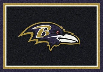 NFL Team Rugs Baltimore Ravens arearugs