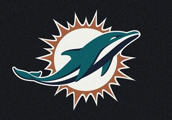 NFL Team Rugs Miami Dolphins arearugs