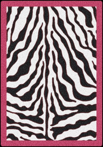 Black and White Zebra Glam Area Rug