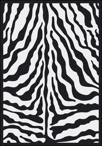 Black and White Zebra Glam arearugs