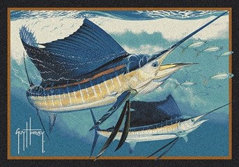 Guy Harvey Sailfish arearugs