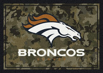 NFL Team Camo Denver Broncos arearugs