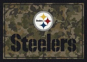 NFL Team Camo Pittsburgh Steelers arearugs
