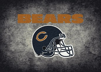 NFL Team Distressed Chicago Bears arearugs
