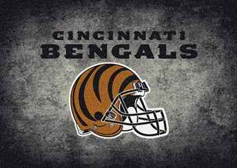 NFL Team Distressed Cincinatti Bengals arearugs