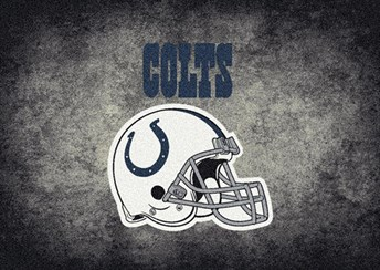 NFL Team Distressed Indianapolis Colts arearugs