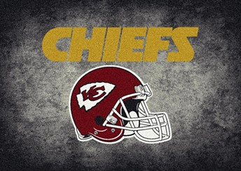 NFL Team Distressed Kansas City Chiefs arearugs