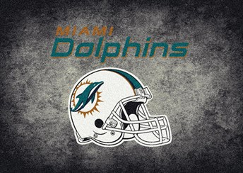 NFL Team Distressed Miami Dolphins arearugs