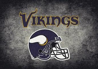 NFL Team Distressed Minnesota Vikings arearugs