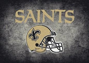 NFL Team Distressed New Orleans Saints arearugs