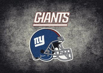 NFL Team Distressed New York Giants arearugs