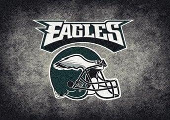 NFL Team Distressed Philadelphia Eagles arearugs