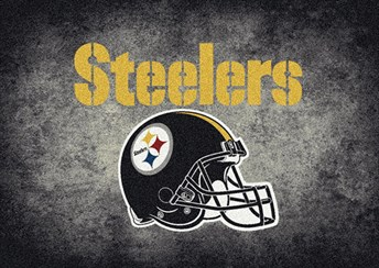 NFL Team Distressed Pittsburgh Steelers arearugs
