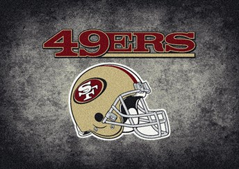 NFL Team Distressed San Francisco 49ers arearugs