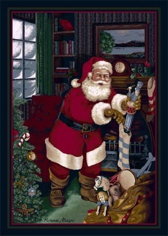 Holiday Rugs Santas Visit P-4533 Area Rug