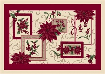 Holiday Rugs Winter Bouquet P-4533 arearugs