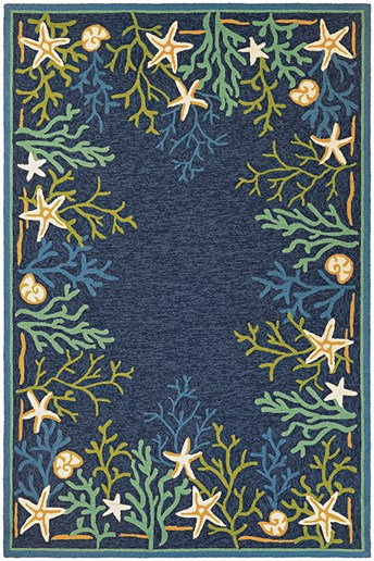 Outdoor Escape Sea Water Area Rug