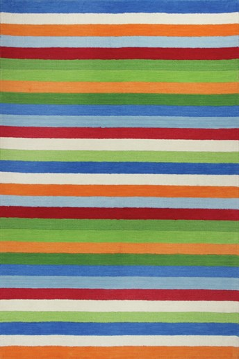 Kidding Around Cool Stripes arearugs