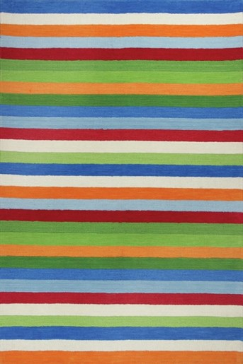 Kidding Around Cool Stripes Area Rug