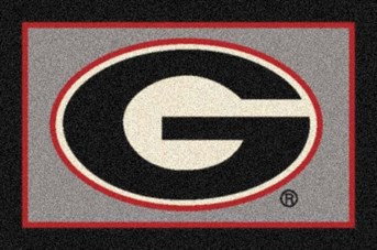 College Spirit Rugs (3315) Georgia arearugs