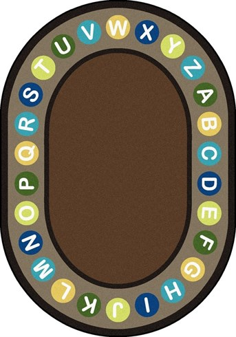 Kid Essentials Alphabet Spots Area Rug