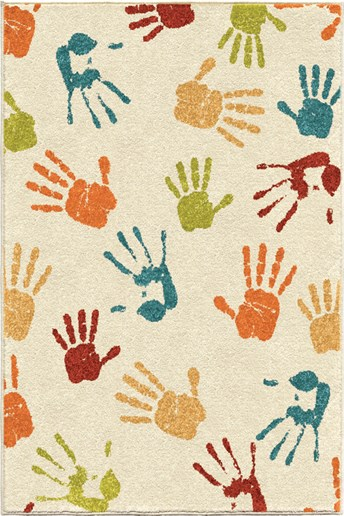 Kids Court Handprints arearugs