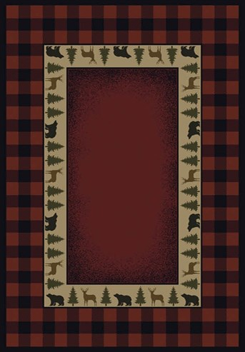Genesis Buffalo Red Area Rug