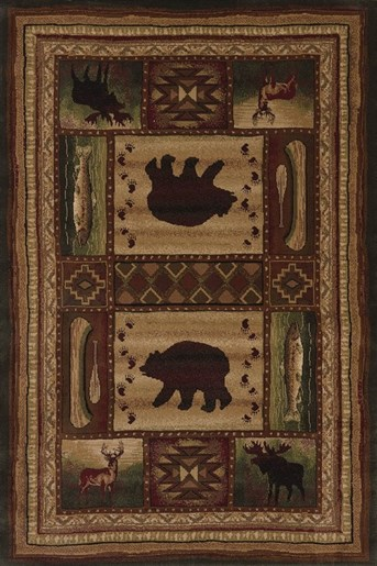 Designer Contours Bear Wilderness Area Rug