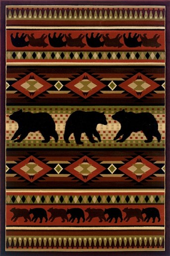 Designer Contours - John Q Native Bear   arearugs