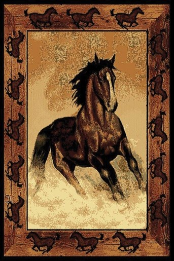 Legends Stallion Border arearugs