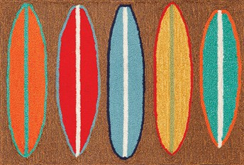 Liora Manne - Front Porch Mats Surfboards Area Rug