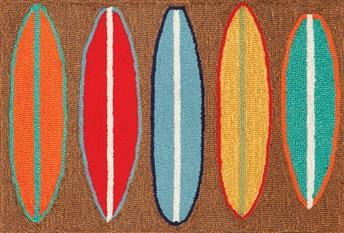 Liora Manne - Front Porch Mats Surfboards Area Rug