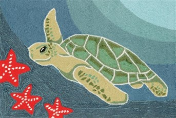 Liora Manne - Front Porch Mats Sea Turtle arearugs