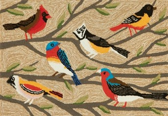 Liora Manne - Front Porch Mats Birds  arearugs