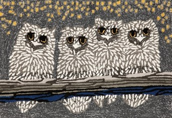 Liora Manne - Front Porch Mats Owls arearugs