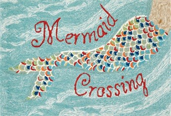 Liora Manne - Front Porch Mats Mermaid Crossing  arearugs