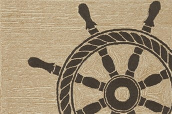 Liora Manne - Front Porch Mats Ship Wheel Area Rug