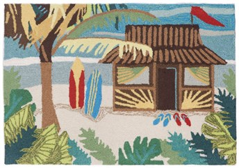 Liora Manne - Front Porch Mats Tiki Hut arearugs