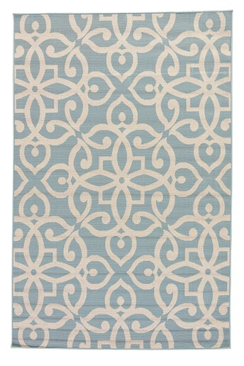 Bloom Scrolled Area Rug