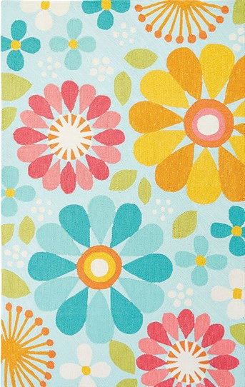 Iconic by Petit Collage - Hand Tufted Spring Flowers arearugs