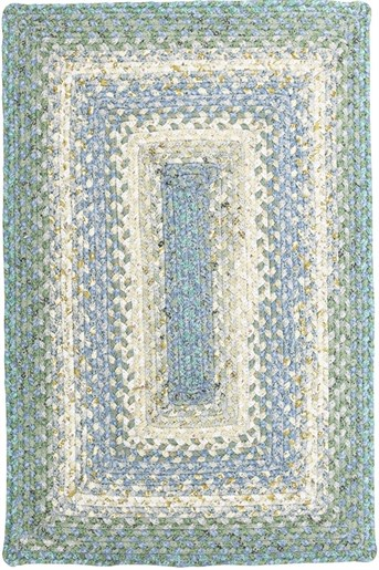 Cotton Braids - Rectangle Baja Blue Area Rug