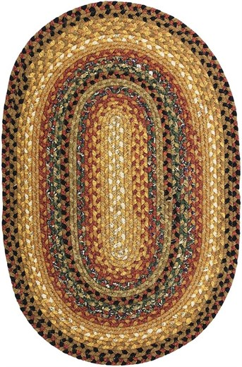 Cotton Braids - Oval Peppercorn Area Rug