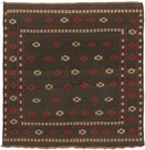 "Rugs Direct Gallery 4'2"" x 4'2"" square Regular Price: $707.00 Square Wool Kilim, Black  - 40650"