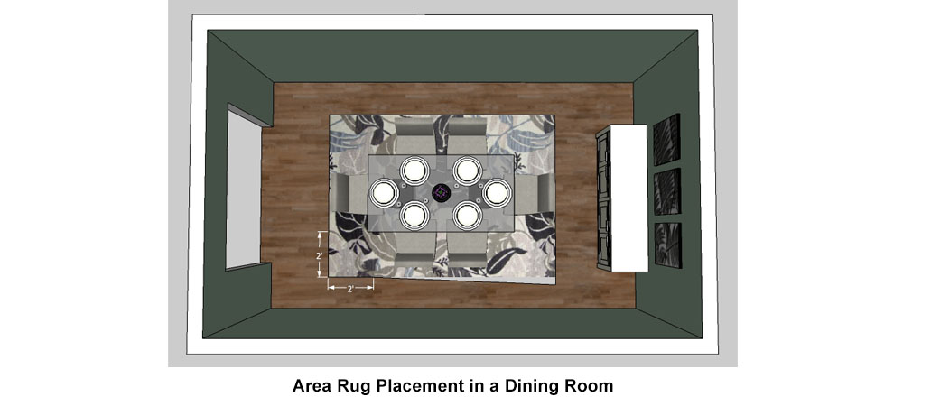 Dining Room Rug Placement