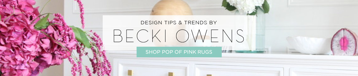 Pop of Pink Rugs