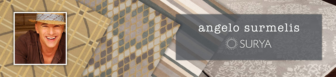 Surya area rugs designed by Angelo Surmelis