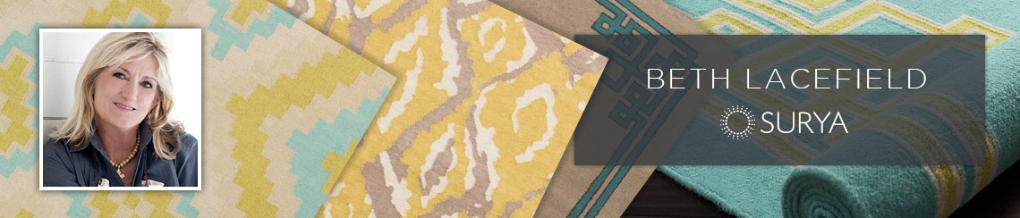 Surya area rugs designed by Beth Lacefield