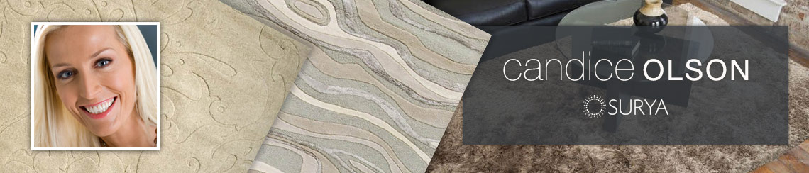 Surya area rugs designed by Candice Olson