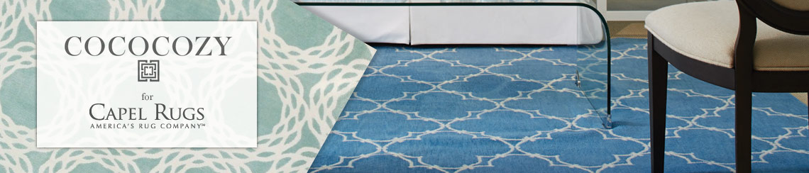 Area rugs designed by Coco Cozy for Capel Rugs